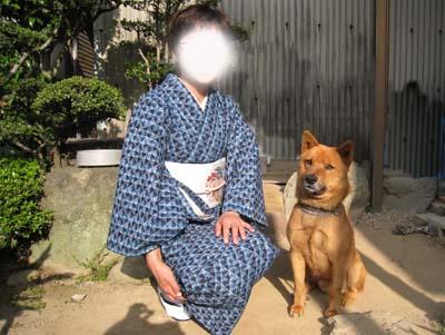 和服と和犬